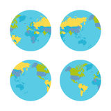 Planet Earth with Countries Vector Illustration. Stock Photo