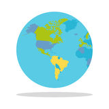 Planet Earth with Countries Vector Illustration. Planet Earth vector illustration. World Globe with political map. Countries silhouettes on the planet surface Royalty Free Stock Photos