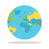 Planet Earth with Countries Vector Illustration. Royalty Free Stock Photography