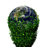 Planet earth covered with the leaves. Eco globe. Ecology planet with with leaves around. eco earth. Eco globe, eco planet Stock Photos
