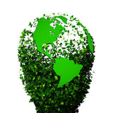 Planet earth covered with the leaves. Eco globe. Ecology planet with with leaves around. eco earth. Eco globe, eco planet Royalty Free Stock Images