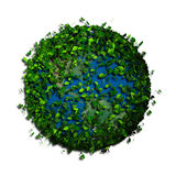Planet earth covered with the leaves. Eco globe. Stock Images