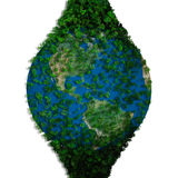 Planet earth covered with the leaves. Eco globe. Stock Image
