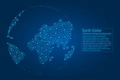 Planet Earth created from lines, points, polygons. Abstract Globe background. Vector. vector illustration