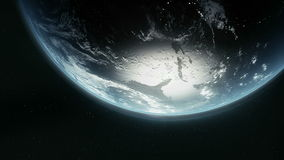 Planet Earth. 3D animation of planet earth stock illustration