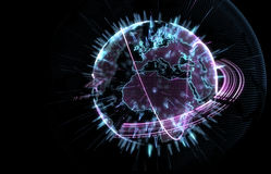 Planet Earth in 3D Royalty Free Stock Photos
