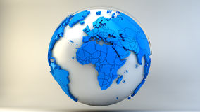 Planet earth. 3d design. Blue and white planet Stock Images