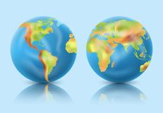 Planet Earth. 3d realistic vector image royalty free illustration