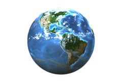 Planet earth (3D) Royalty Free Stock Images