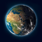 Planet Earth. Earth on a dark space background Royalty Free Stock Photography