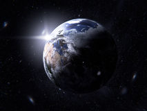 Planet Earth. With day and night Royalty Free Stock Photography