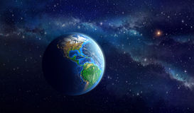 Planet Earth in deep space Royalty Free Stock Images
