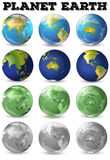 Planet earth in different form Stock Images