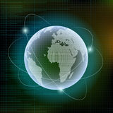 Planet Earth. Digital technology background. Stock  illust Stock Images