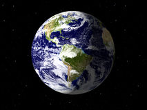Planet Earth done with textures Royalty Free Stock Image