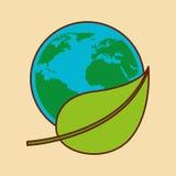 Planet earth ecology symbol. Illustration design Stock Photography
