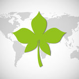 Planet earth ecology symbol. Illustration design Stock Image