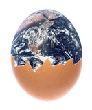 Planet Earth Egg Macro Isolated Stock Image