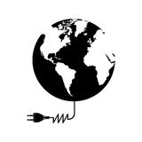 Planet earth and electricity plug icon image. Vector illustration design Royalty Free Stock Photography