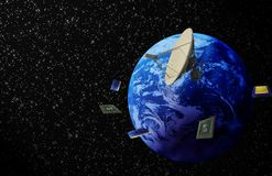 Planet earth and electronics Stock Image