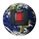 Planet Earth Emergency Button Stock Photography