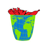 Planet Earth, environmental pollution, natural disaster, ecology icons stock illustration