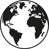 Planet earth europe africa north and south america. Vector vector illustration