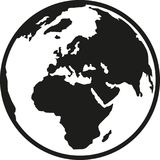 Planet earth europe and africa. Vector vector illustration