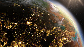 Planet Earth Europe zone using satellite imagery NASA Stock Images