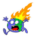 Planet Earth on fire Stock Images
