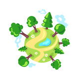 Planet Earth. forest. eco logo Royalty Free Stock Photo