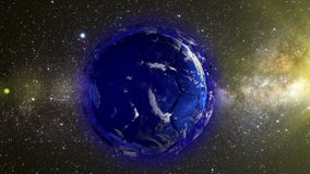 Planet Earth in the form of a ball in space, maps and textures provided by NASA stock footage