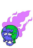 Planet Earth with fumes Stock Photography