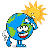 Planet earth getting hot Royalty Free Stock Photo