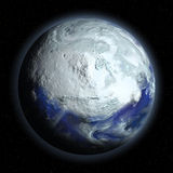 Planet Earth in Glacial Period Stock Image