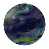 Planet earth global winds. Australia and part of Asia. Royalty Free Stock Photo