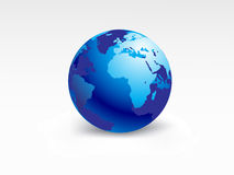 Planet earth-globe. Planet earth map from six views; illustration Royalty Free Stock Image