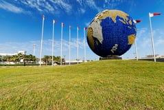 Planet Earth Globe. Near Bahrain International Airport in Muharraq Royalty Free Stock Photography