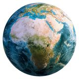 Planet Earth globe. Elements of this image furnished by NASA. 3d rendering stock photo