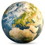 Planet Earth globe. Elements of this image furnished by NASA. 3d rendering royalty free stock photos
