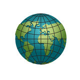 Planet earth globe. Model of sphere. Astronomical objects or cel. Estial atlas Royalty Free Stock Image