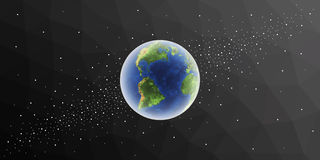 Planet Earth. Globe in space. Stock Photos