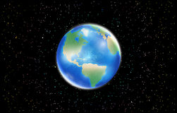 Planet earth globe with space star background Stock Image
