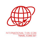 Planet Earth globe - Vector icon isolated on white stock illustration