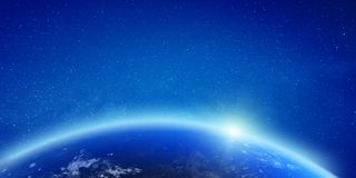 Free Planet Earth Glow Light Horizon Royalty Free Stock Images - 137076779