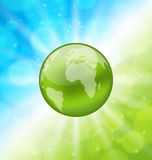 Planet earth on glowing abstract background Royalty Free Stock Image