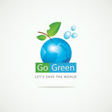 Planet Earth Go Green Stock Photography