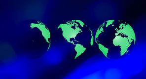 Planet earth green globe ecology background Royalty Free Stock Photos