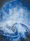 Planet Earth grunge background Royalty Free Stock Image