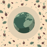 Planet Earth hand drawn background Royalty Free Stock Images